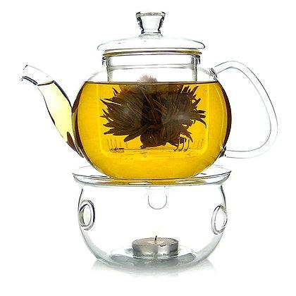Glass Tea Pot with Warmer
