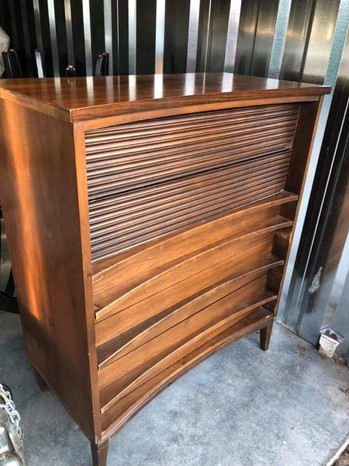 MCM tall dresser
