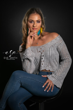 Studio photography: young adult woman
