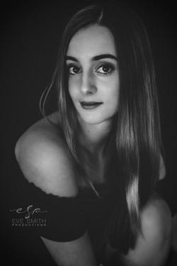 low key photography in Randburg studio: Young adult woman
