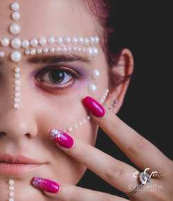 Studio photography Randburg: nail & makeup photo by Eve Smith
