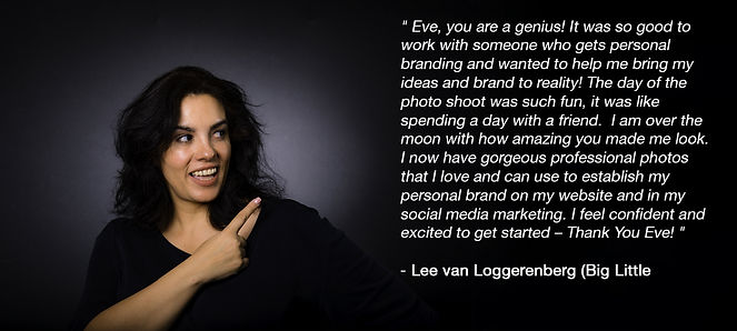 testimonial Eve Smith Personal brand photography