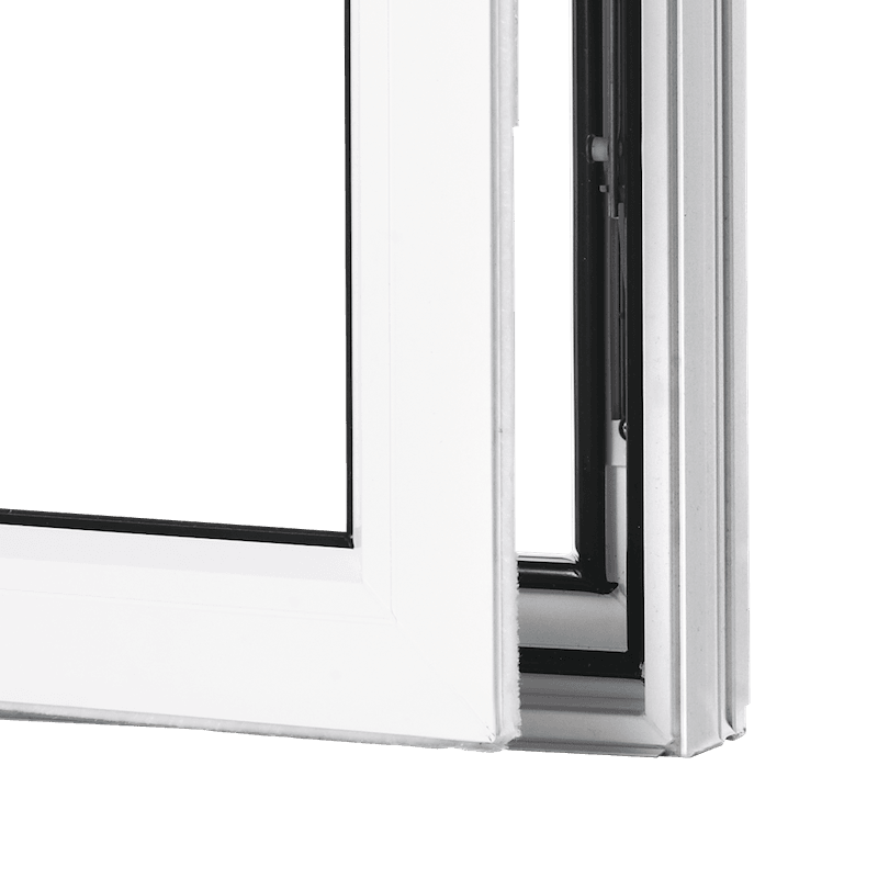 Beveled Casement Open