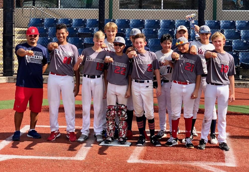 Houston Warriors 14U Red team championship photo.