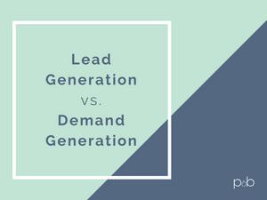 lead gen vs. demand gen graphic