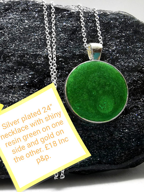 Silver Plated Resin Necklace