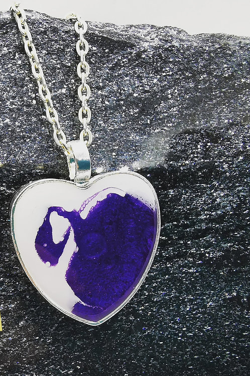 Beautiful Silver Plated Resin Necklace