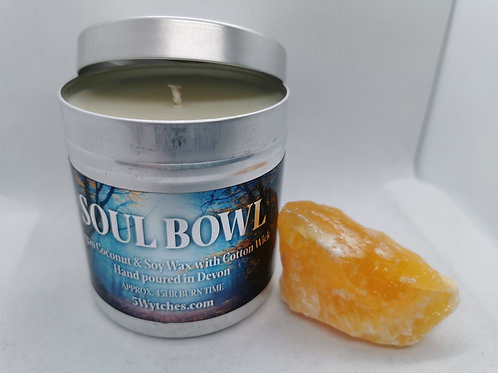 Candle and Orange Calcite Gift Box