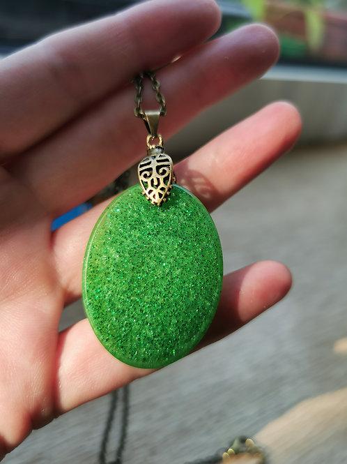 Green Jade Sparkly Resin
