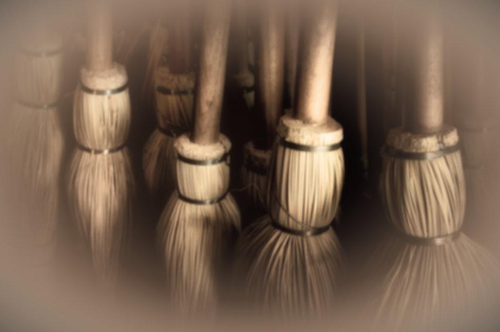 Hand-made brooms at Shaker Village, Kent