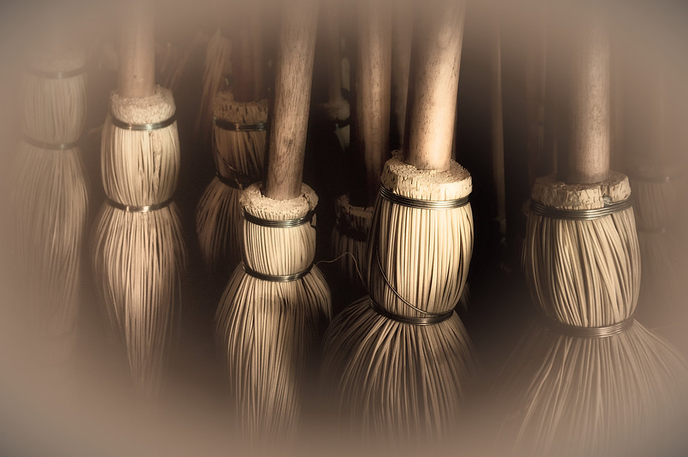 Hand-made brooms at Shaker Village, Kent