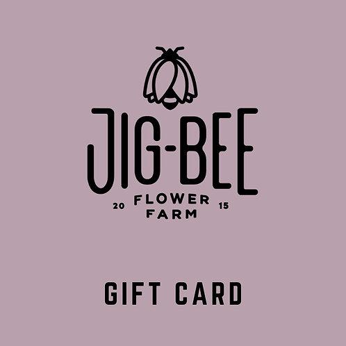 JIG-BEE GIFT CARD OPTIONS