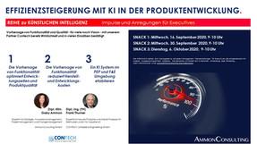 """EXECUTIVE TALK """"Effizienzsteigerung mit KI in der Produktentwicklung"""""""