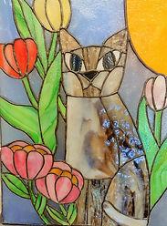猫と花.JPG