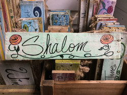 Custom Sign Shalom