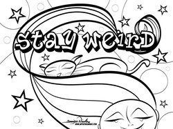 3-18-20 Stay Weird Coloring Page