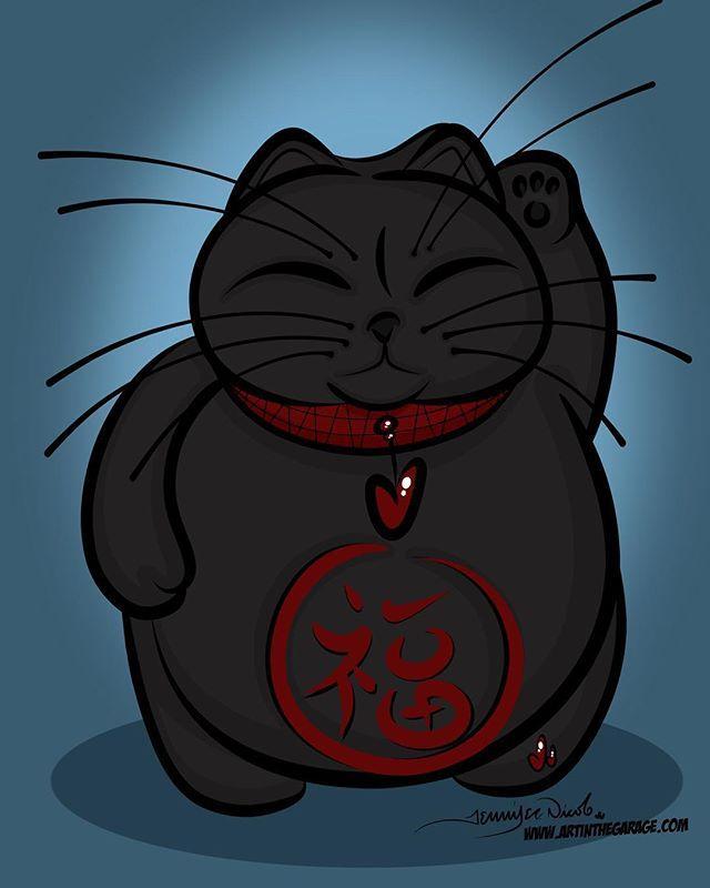 8-15-17 Lucky Black Cat