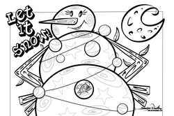 12-4-19 Let Is Snow Coloring Page