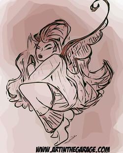 1-16-20 Sleeping Angel Sketch