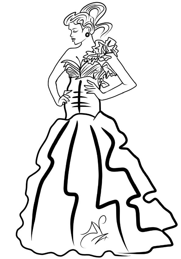 4-11-13 Sketch Lady In dress