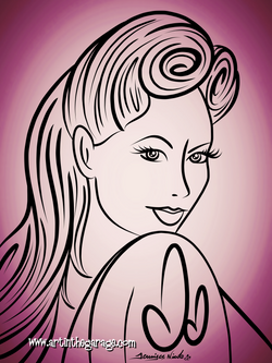 8-18-15 Pinup Outline
