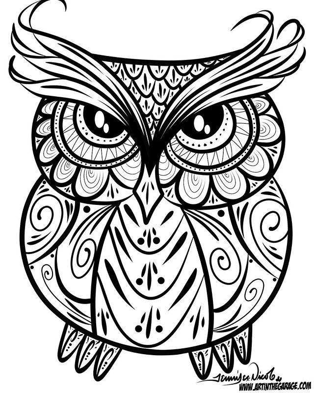 4-20-17 Owl Outline