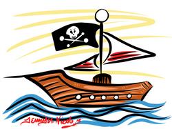 1-31-13 Pirate Sailboat