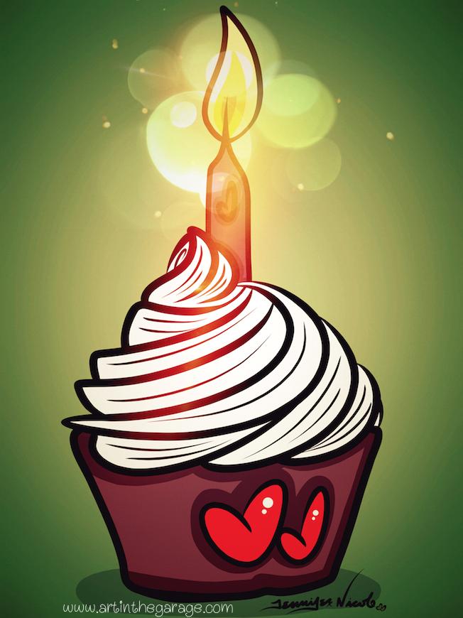 8-5-15 Birthday Cupcake