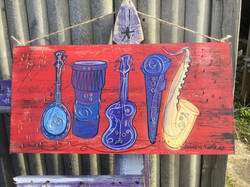 Recycled Large Artwork Sign
