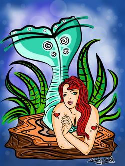 4-28-13 Mermaid On the Rocks