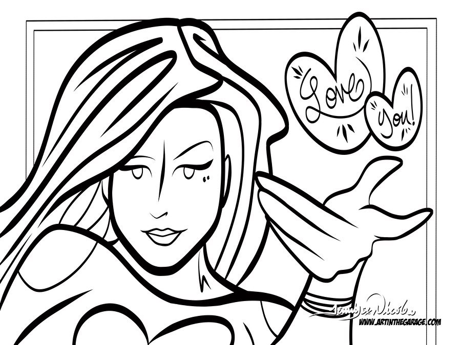 4-3-20 Love You Coloring Page