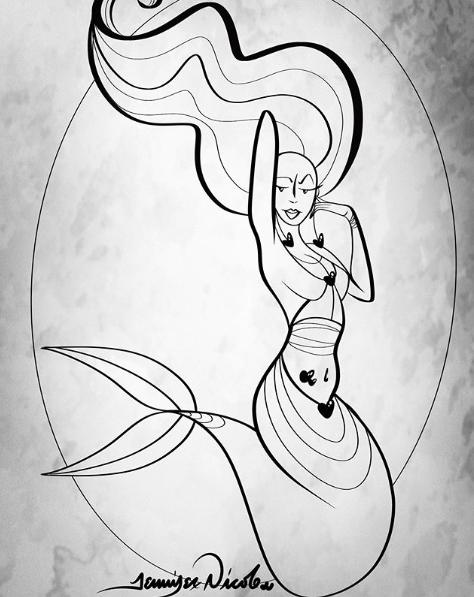 7-9-19 Mergirl Outline