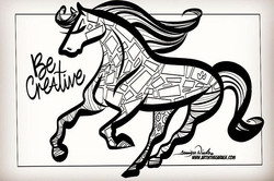 2-13-19 Be Creative Coloring Page