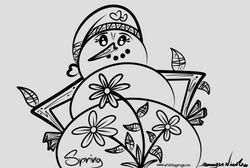 4-6-16 Outline Snowman