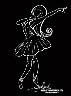 6-7-21 The Dancer Outline For Silkscreen