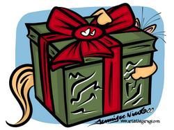 12-22-15 Ollie Helps Wrap Presents