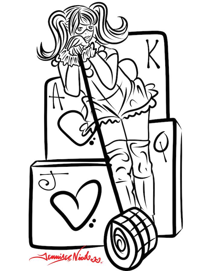 5-3-14 Harley Quinn-esc Sketch.png