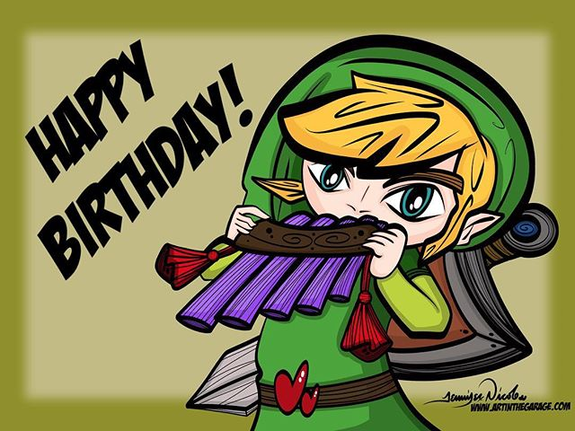 "6-26-18 Happy Birthday. To a ""Super Zelda Love'n Nerd"""