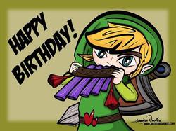 "6-26-18 Happy Birthday. To a ""Super Zelda Love'n Nerd"""