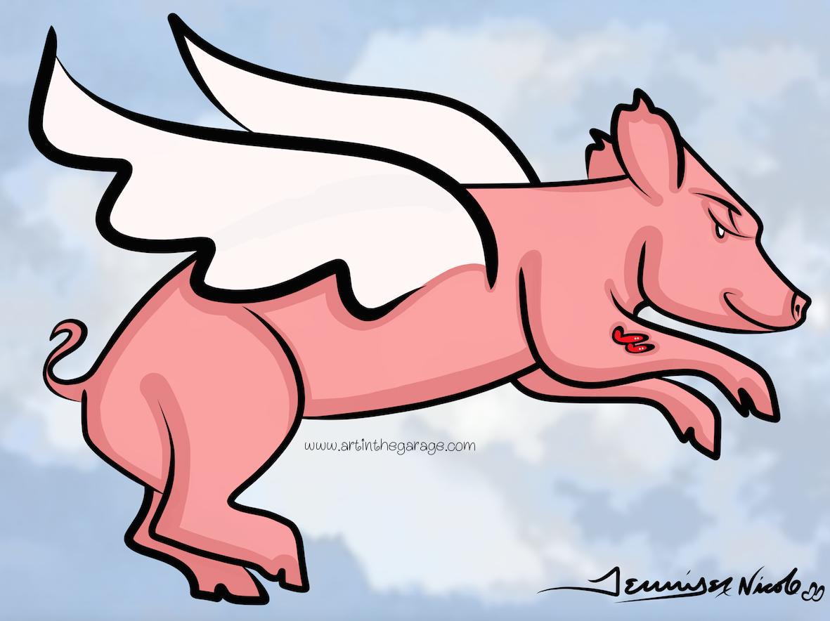 8-1-15 When Piggies Fly