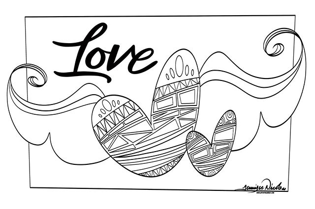 5-18-19 Love Coloring Page by AITG