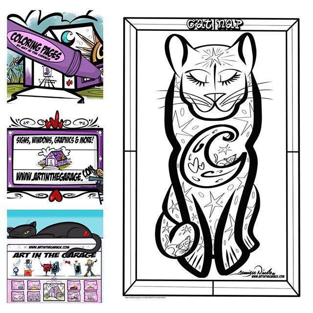 4-7-19 Cat Nap Coloring Page By Art In T