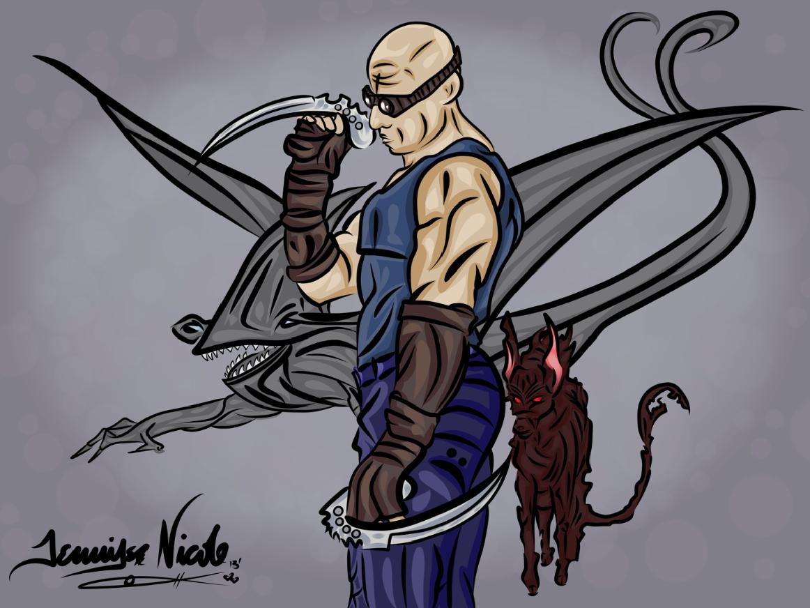 8-3-13 Riddick & His Pets