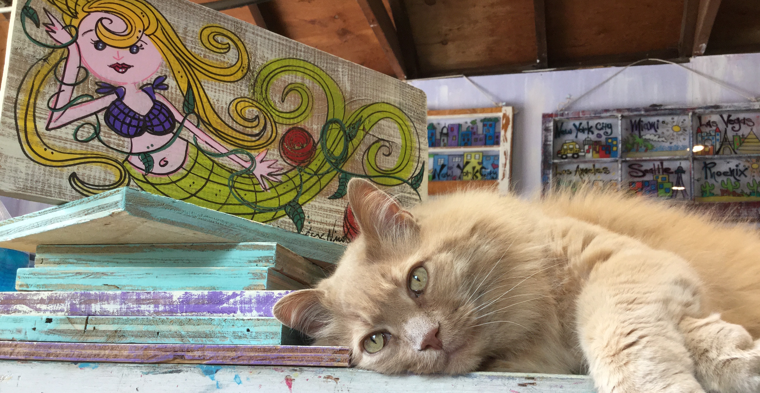 Mermaid Signs (Cat Sold Separately)