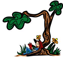 3-22-13 Reading Under The Tree