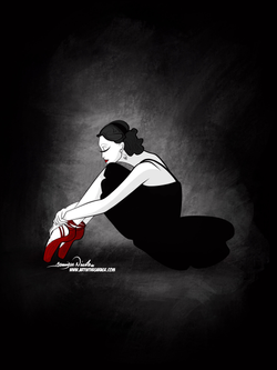 12-20-19 Ballerina Red In Red Shoes