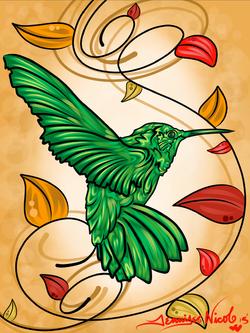 11-3-13 Autumn Humming Bird