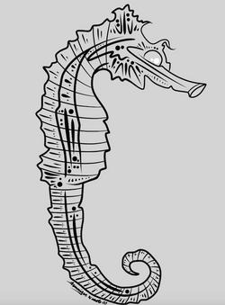 3-8-15 Seahorse Outline