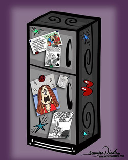 1-7-18 Sad As A Cathy Comic Strip Tapped To The Fridge