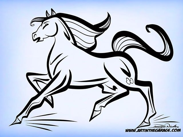 5-13-18 Running Horse